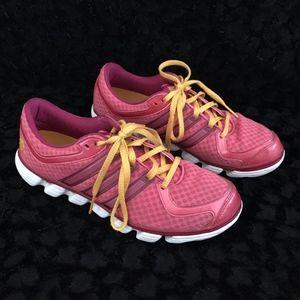 Adidas Womens Running Shoes Pink Orange Lace SZ 9